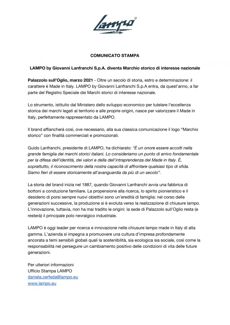 Comunicato Stampa_LAMPO